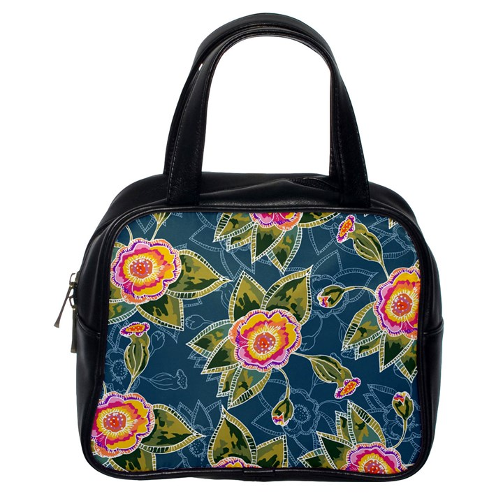 Floral Fantsy Pattern Classic Handbags (One Side)