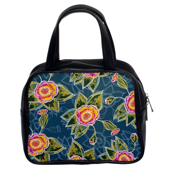 Floral Fantsy Pattern Classic Handbags (2 Sides)