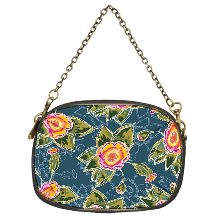 Floral Fantsy Pattern Chain Purses (One Side)