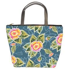 Floral Fantsy Pattern Bucket Bags