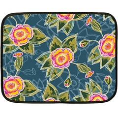 Floral Fantsy Pattern Fleece Blanket (mini)
