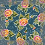 Floral Fantsy Pattern Mini Canvas 6  x 6  6  x 6  x 0.875  Stretched Canvas