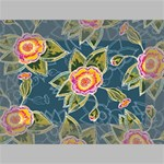 Floral Fantsy Pattern Mini Canvas 6  x 4  6  x 4  x 0.875  Stretched Canvas
