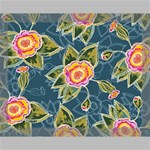 Floral Fantsy Pattern Canvas 14  x 11  14  x 11  x 0.875  Stretched Canvas