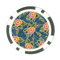 Floral Fantsy Pattern Poker Chip Card Guards (10 pack)
