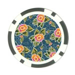 Floral Fantsy Pattern Poker Chip Card Guards (10 pack)  Back