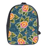 Floral Fantsy Pattern School Bags(Large)  Front