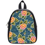 Floral Fantsy Pattern School Bags (Small)  Front