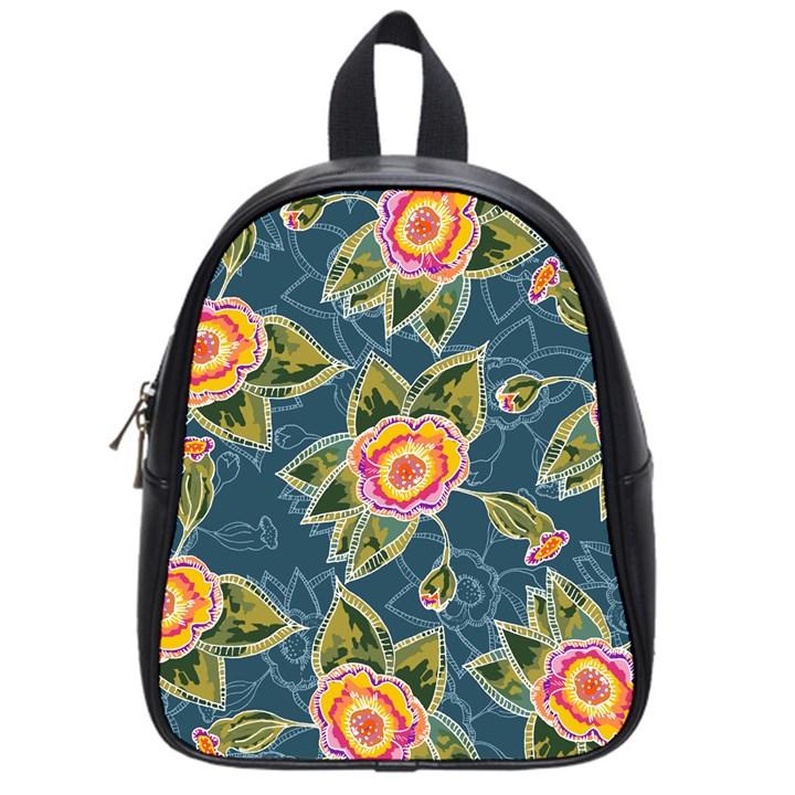 Floral Fantsy Pattern School Bags (Small)