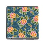 Floral Fantsy Pattern Memory Card Reader (Square) Front