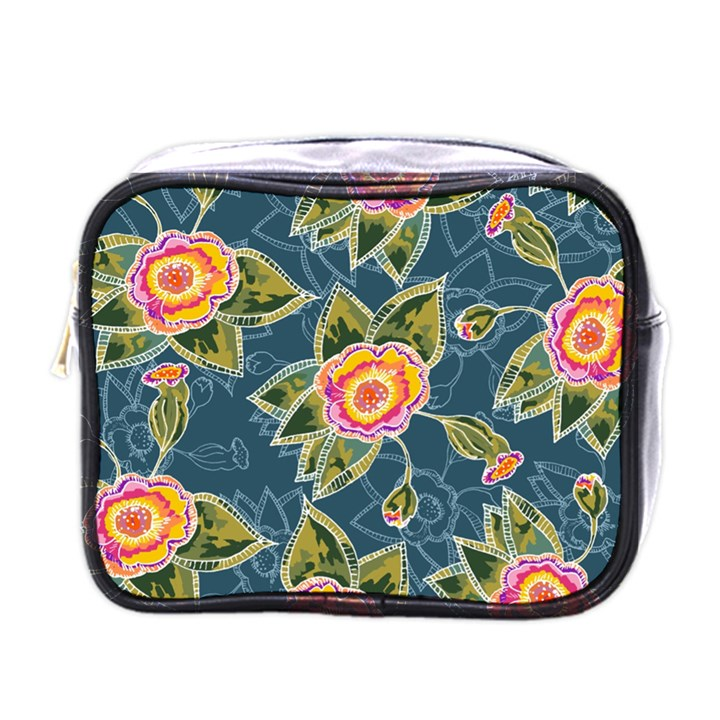 Floral Fantsy Pattern Mini Toiletries Bags