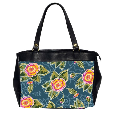 Floral Fantsy Pattern Office Handbags (2 Sides)