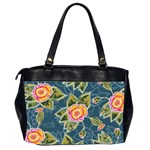 Floral Fantsy Pattern Office Handbags (2 Sides)  Back