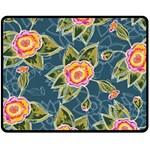 Floral Fantsy Pattern Fleece Blanket (Medium)  60 x50 Blanket Front