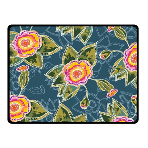 Floral Fantsy Pattern Fleece Blanket (Small)