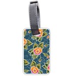 Floral Fantsy Pattern Luggage Tags (Two Sides) Back