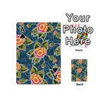 Floral Fantsy Pattern Playing Cards 54 (Mini)  Front - SpadeA