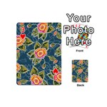 Floral Fantsy Pattern Playing Cards 54 (Mini)  Front - Heart3