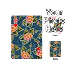Floral Fantsy Pattern Playing Cards 54 (Mini)  Front - Heart10