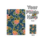 Floral Fantsy Pattern Playing Cards 54 (Mini)  Front - Spade5