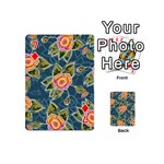 Floral Fantsy Pattern Playing Cards 54 (Mini)  Front - Diamond7