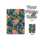 Floral Fantsy Pattern Playing Cards 54 (Mini)  Front - Spade9