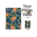Floral Fantsy Pattern Playing Cards 54 (Mini)  Front - Spade10