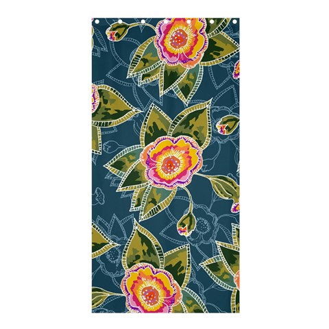 Floral Fantsy Pattern Shower Curtain 36  x 72  (Stall)