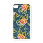 Floral Fantsy Pattern Apple iPhone 4 Case (White) Front