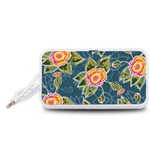 Floral Fantsy Pattern Portable Speaker (White)  Front