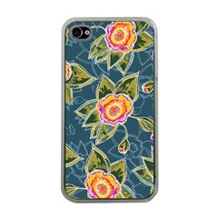 Floral Fantsy Pattern Apple Iphone 4 Case (clear)