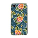 Floral Fantsy Pattern Apple iPhone 4 Case (Clear) Front