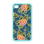 Floral Fantsy Pattern Apple iPhone 4 Case (Color) Front