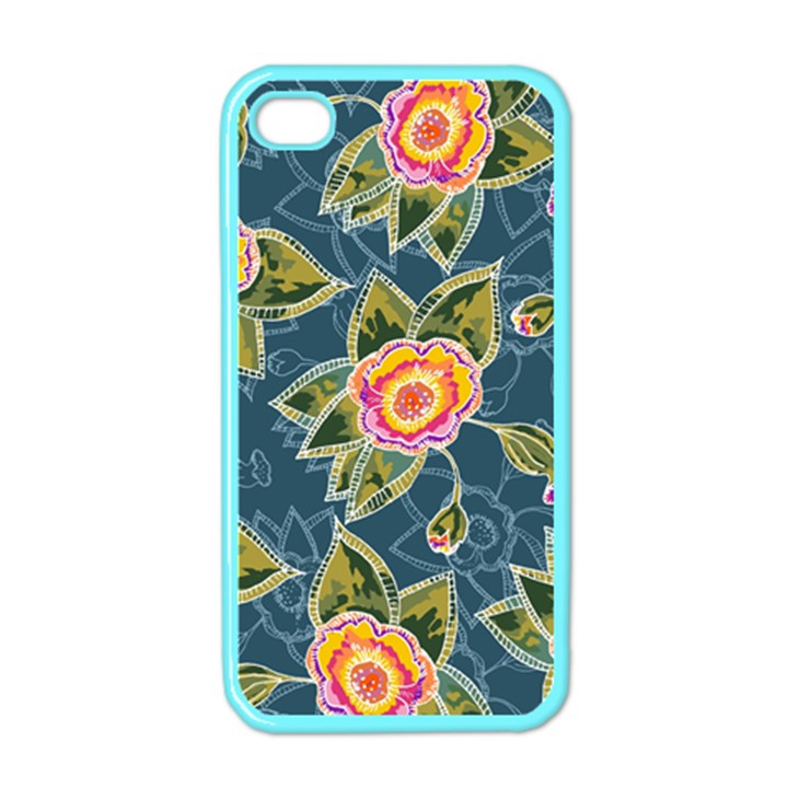 Floral Fantsy Pattern Apple iPhone 4 Case (Color)