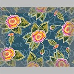 Floral Fantsy Pattern Deluxe Canvas 16  x 12   16  x 12  x 1.5  Stretched Canvas