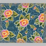 Floral Fantsy Pattern Deluxe Canvas 24  x 20   24  x 20  x 1.5  Stretched Canvas