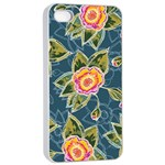 Floral Fantsy Pattern Apple iPhone 4/4s Seamless Case (White) Front