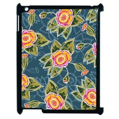 Floral Fantsy Pattern Apple iPad 2 Case (Black)