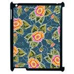 Floral Fantsy Pattern Apple iPad 2 Case (Black) Front