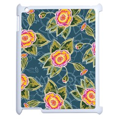 Floral Fantsy Pattern Apple iPad 2 Case (White)