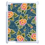 Floral Fantsy Pattern Apple iPad 2 Case (White) Front