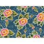 Floral Fantsy Pattern You Rock 3D Greeting Card (7x5) Back