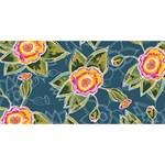 Floral Fantsy Pattern Congrats Graduate 3D Greeting Card (8x4) Back