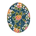 Floral Fantsy Pattern Ornament (Oval Filigree)  Front