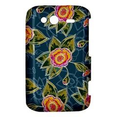 Floral Fantsy Pattern HTC Wildfire S A510e Hardshell Case