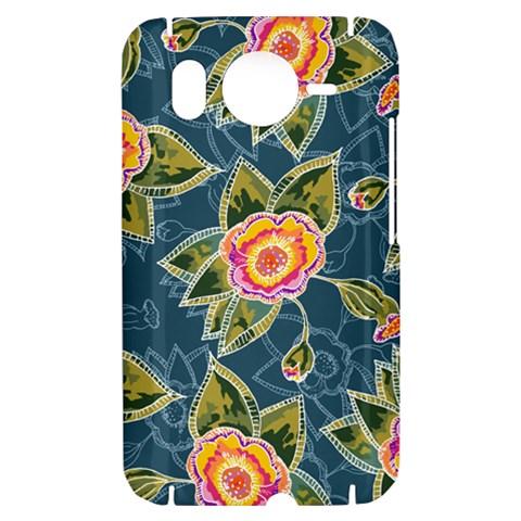 Floral Fantsy Pattern HTC Desire HD Hardshell Case
