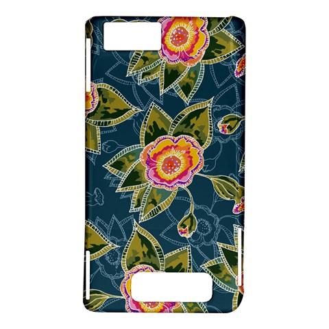 Floral Fantsy Pattern Motorola DROID X2