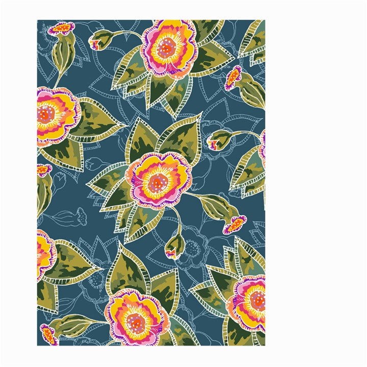 Floral Fantsy Pattern Large Garden Flag (Two Sides)