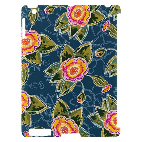 Floral Fantsy Pattern Apple iPad 2 Hardshell Case (Compatible with Smart Cover)