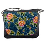 Floral Fantsy Pattern Messenger Bags Front